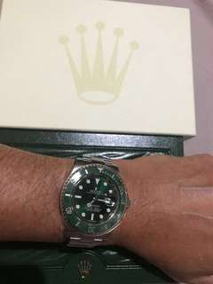 Rolex Green HULK 116610 LV (original, rarely wear, like new)
