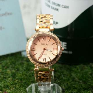 BONIA FLORAL STEEL LIMITED EDITION WATCH