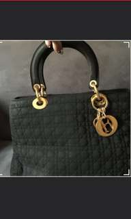 Authentic Lady Dior Vintage Large
