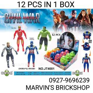 Party Giveaways Marvel Avengers Deformation Eggs 12 pcs in 1 Box