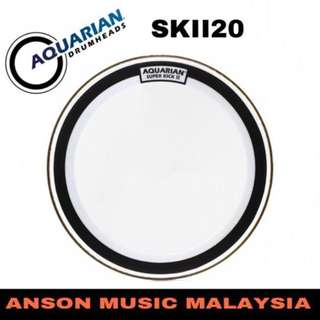 Aquarian SKII20 Super-Kick Clear Double Ply Drumhead, 20''
