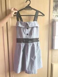 Cute blue button up dress