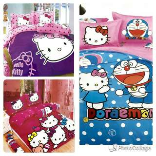 Kitty bedsheet with pillow covers