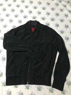 Zara men jacket with leather lining