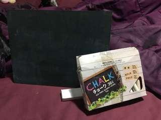 Chalkboard & Chalks