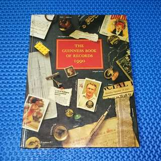 🆒 Vintage 1990 Guinness Book of Records [Hardcover]