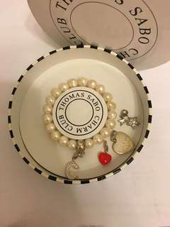 Thomas Sabo Pearl bracelet with charms