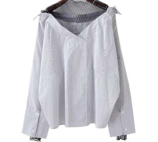 PO - Mesh Top Female Long Sleeve Shirt (2 colors)