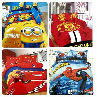 Kids bedsheets set with pillow covers