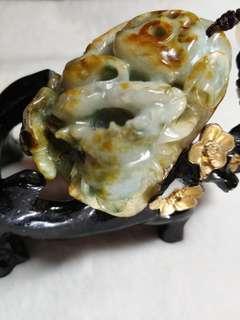 Jade Myanmar Type A jadeite - 手把玩
