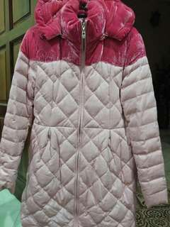 Winter Jacket With Hoodies Pink