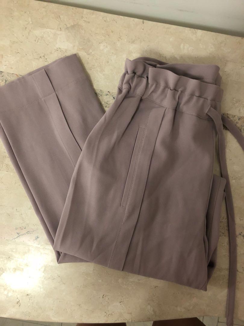 Babaton lilac drawstring trouser