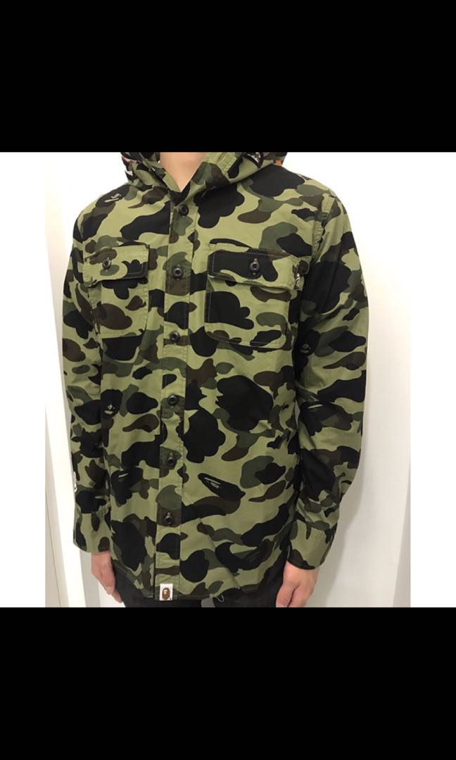 66f4d78c BAPE 1ST CAMO SHARK SHIRT HOODIE (BN), Men's Fashion, Clothes on ...
