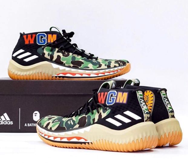 best service d4aee e580b bape adidas dame 4, Mens Fashion, Footwear, Sneakers on Caro