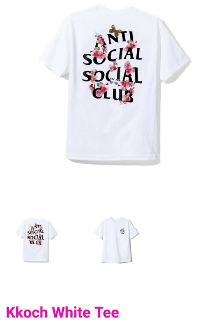 e6e9ef12c0c3 BN ASSC Anti Social Social Club size S Kkoch White Tee series