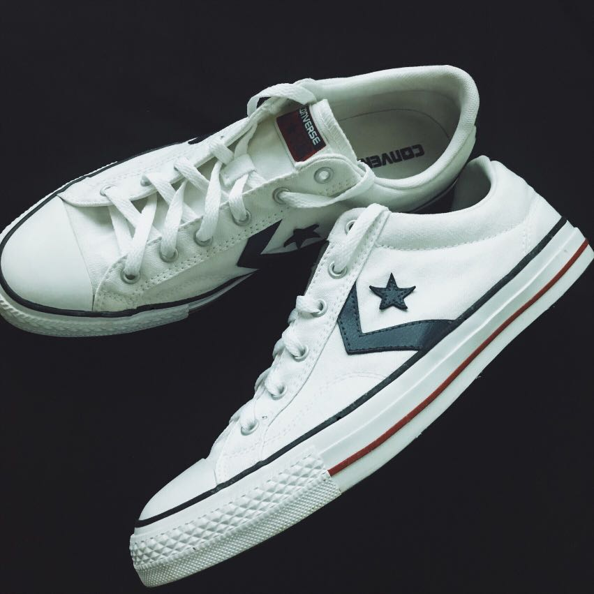 29514eb6ddd2 ... promo code for converse star player ox white navy mens fashion footwear  sneakers on carousell 8e342