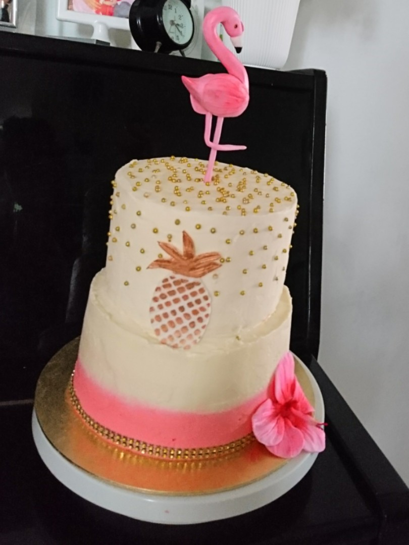 Flamingo Birthday Cake Food Drinks Baked Goods On Carousell