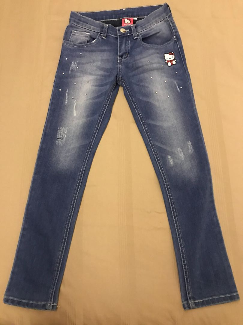 cc60f03c6 Hello Kitty Jeans (preloved size 10), Women's Fashion, Clothes ...