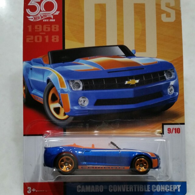 Hot Wheels Camaro Convertible Concept Toys Games Diecast Toy