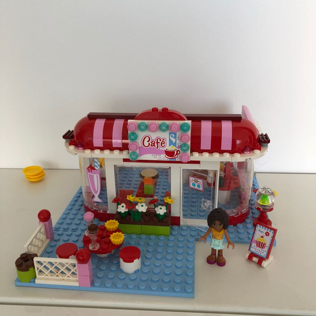 Lego 3061 City Park Café Friends Toys Games Bricks Figurines