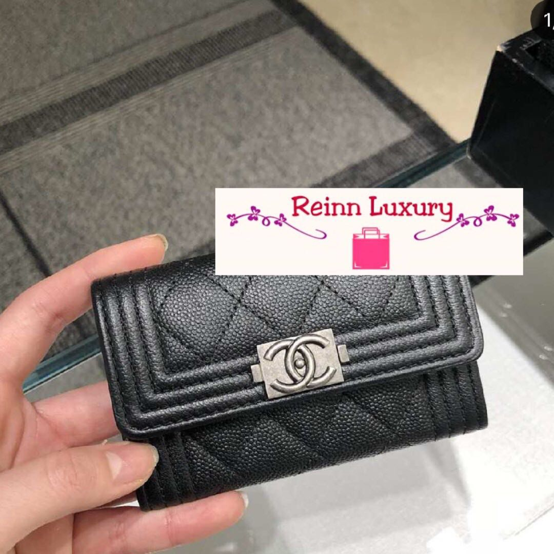 463bb921919a4f Limited NEW Preorder: CHANEL Boy Card Holder Exclusive from Europe ...