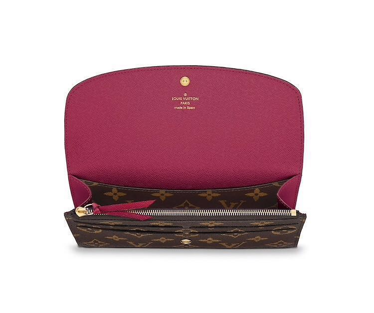 93c095d93c377 Louis Vuitton Emilie Wallet Fuschia