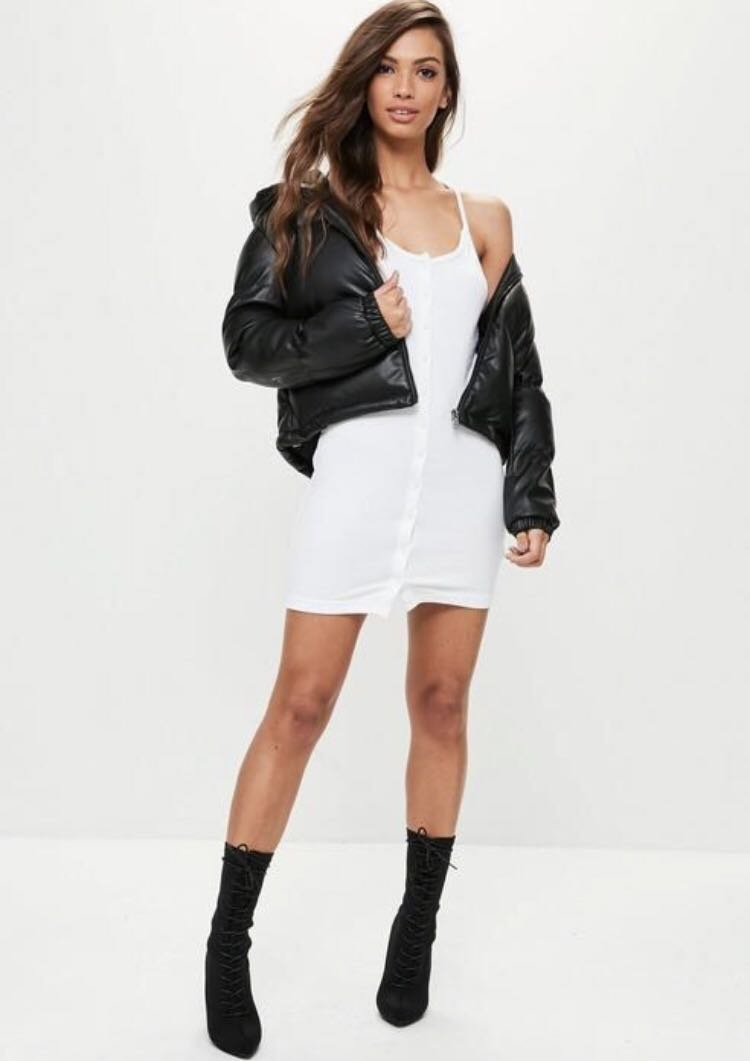 MISSGUIDED - Button Down Dress (US 6)