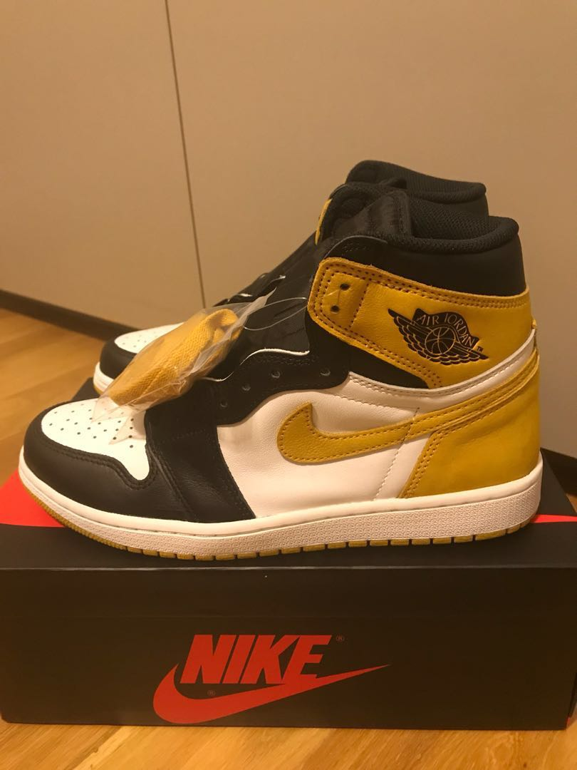"""0027f0fc1b7b Nike Air Jordan 1 Yellow Orche """"Best Hand in Game collection"""""""