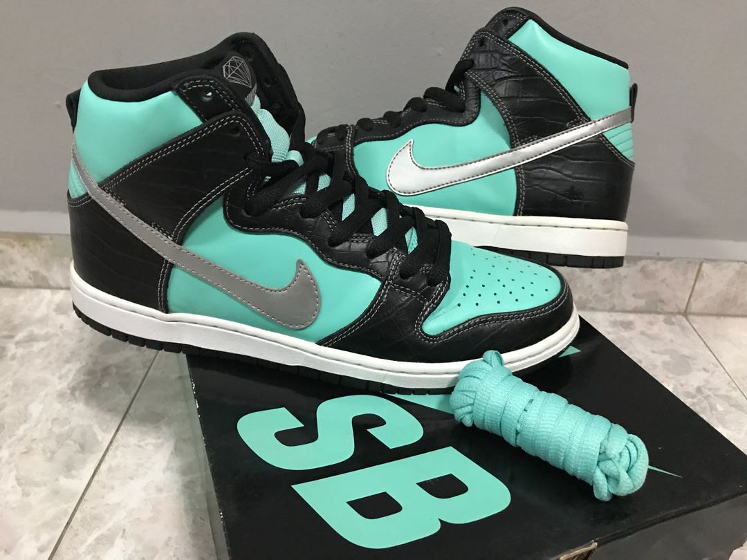 """wholesale dealer 85861 013de Nike Dunk High Prm SB """"Tiffany"""", Men s Fashion, Footwear, Sneakers ..."""