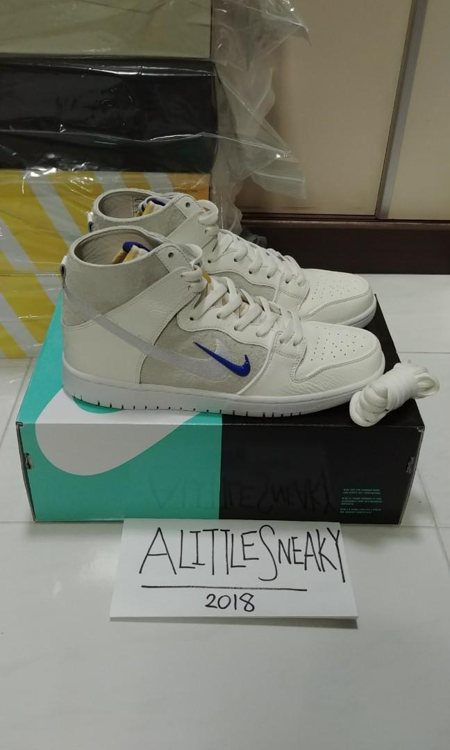 release date: e5ba7 696b0 Nike x Soulland SB Zoom Dunk High Pro QS AH9613-141 UK 10 US 11