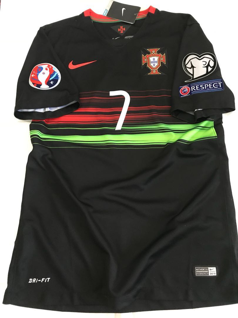 huge selection of 841cc 50f1b Official Authentic NIKE Portugal 2015-2016 Away Jersey CR7 R