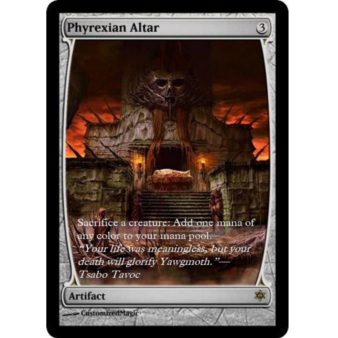 Phyrexian Altar Toys Games Board Cards On Carousell Mouse Pad Efreet