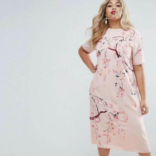 6157862bc1 🍃Plum Blossom Plussize Pink Dress