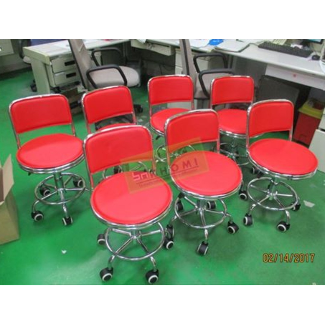 Red Bar Stool Drafting Chairs Tellers Chair Khomi Home Furniture
