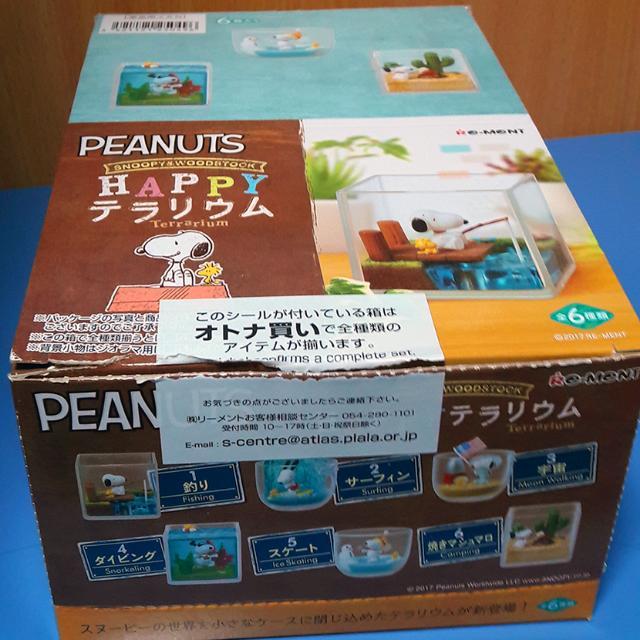 Set of 6 JAPAN PEANUTS SNOOPY/&WOODSTOCK HAPPY TERRARIUM Complete 1BOX