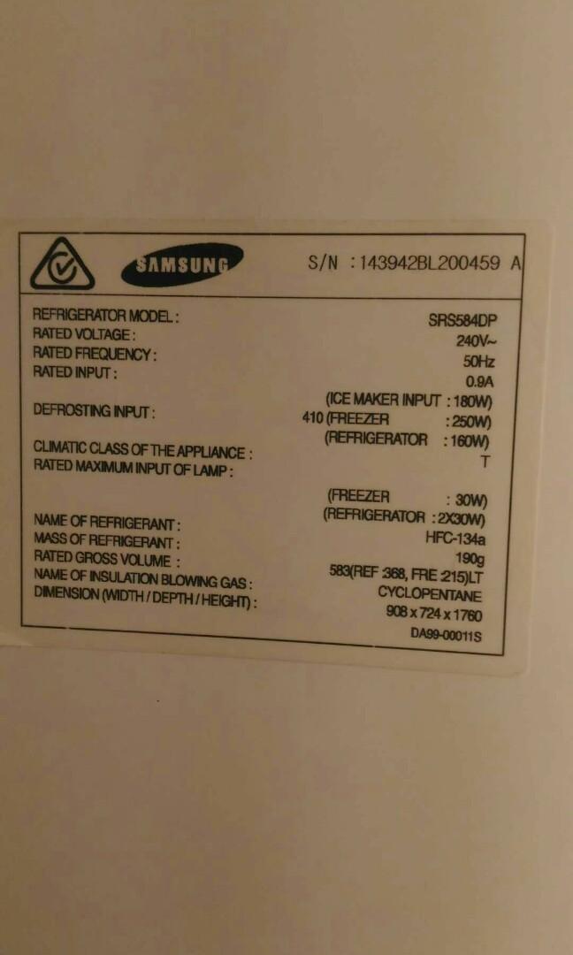 Samsung stainless steel frost-free fridge freezer 584 litres