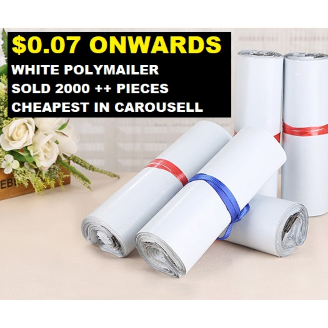8c96263040 White Colour Polymailer Poly Mailer Shipping Envelopes Mailing Bags ...