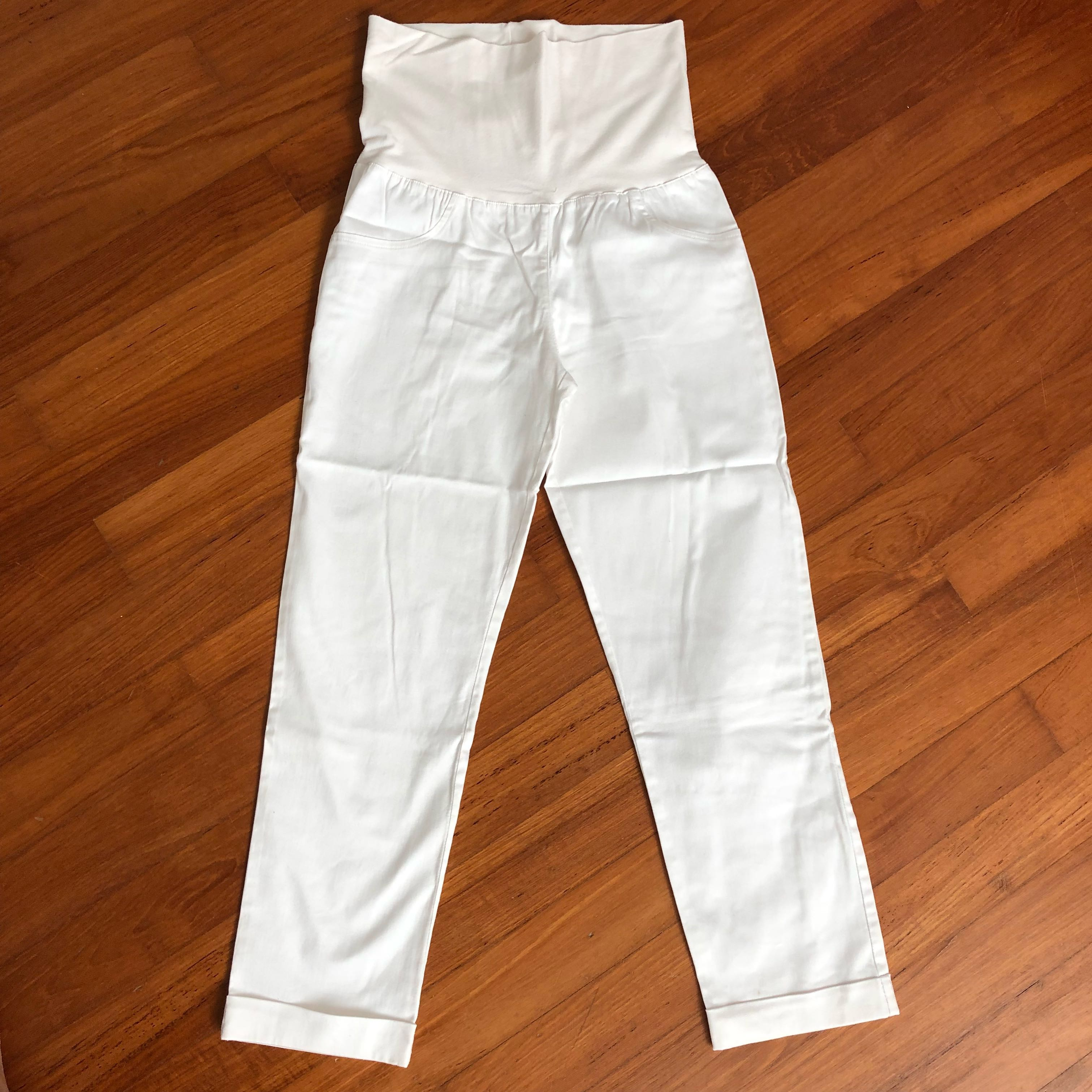 9a25bd1f45a0c1 White Maternity Pants, Babies & Kids, Maternity on Carousell