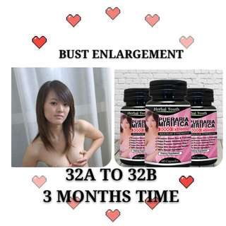 ☆ IN STOCK ☆ BOOBS BUST ENLARGEMENT BOOST☆ 100%  Pueraria Mirifica ☆ Muslim & Vegetarian can take ☆☆