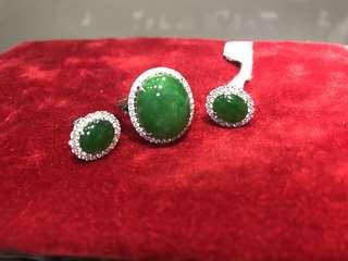 Jadeite earring/ring