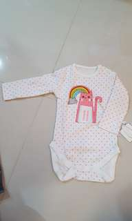 Long sleeves Baby Rainbow Cat Onesie