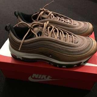 Nike air max 97 desert dust/white size US 8