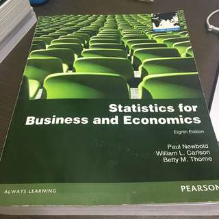 EC2303 - Statistics for Business and Economics 8th Edition