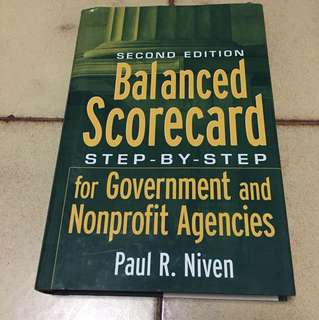 Balanced scorecard for govt and nonprofit agencies book