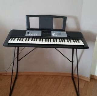 """Yamaha Portable Keyboard (Model PSR-E233)  -Ultra Wide Stereo -More Advanced Y.E.S"""" -High Quality Voices & Styles and Digital Effects -Portable Grand Button -Auto Power Off mode"""