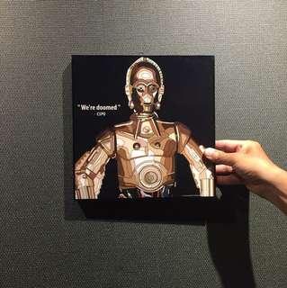 C3PO Star Wars Print by Pop Artist Keetatat Sitthiket
