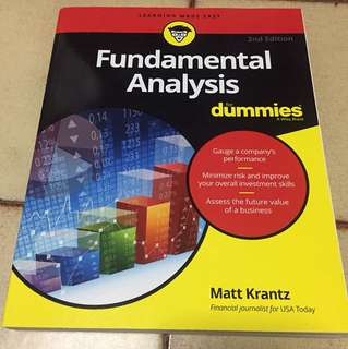 Fundamental analysis (for dummies) book