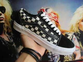 Vans oldskool mono checkerboard black white