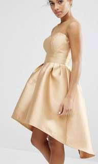 chi chi london gold dress