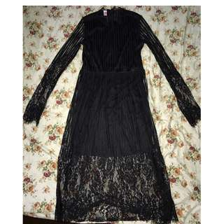 Black lace dress  #MidMay75